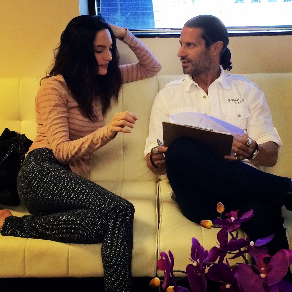 Tola Talks' Rich Tola with award-winning actress, Alex Lombard.
