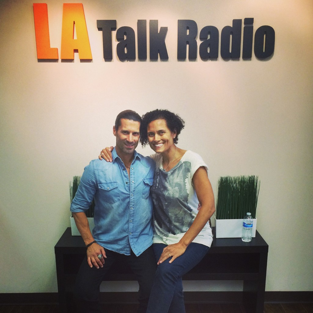 Tola Talks's Rich Tola and Movie Monday's guest do-host, actress Troy Titus-Adams.