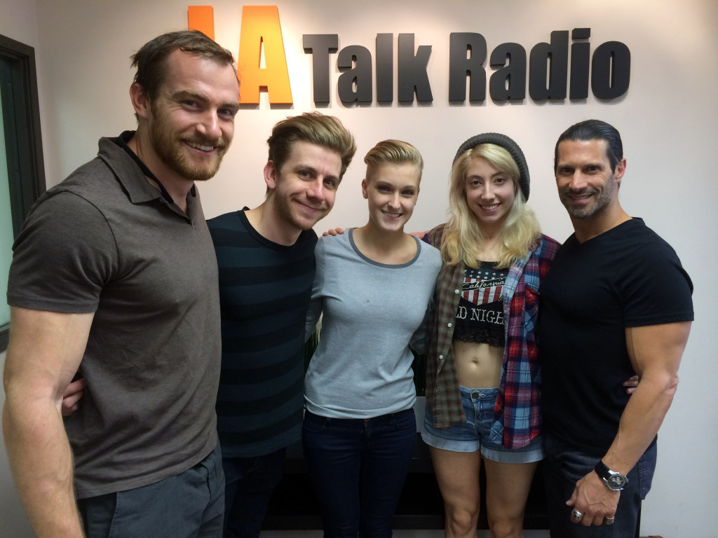 Tola Talks' Rich Tola with Brandon, Brian, Anna & Mandie of the All-American Band, Slow Motion Celebrity
