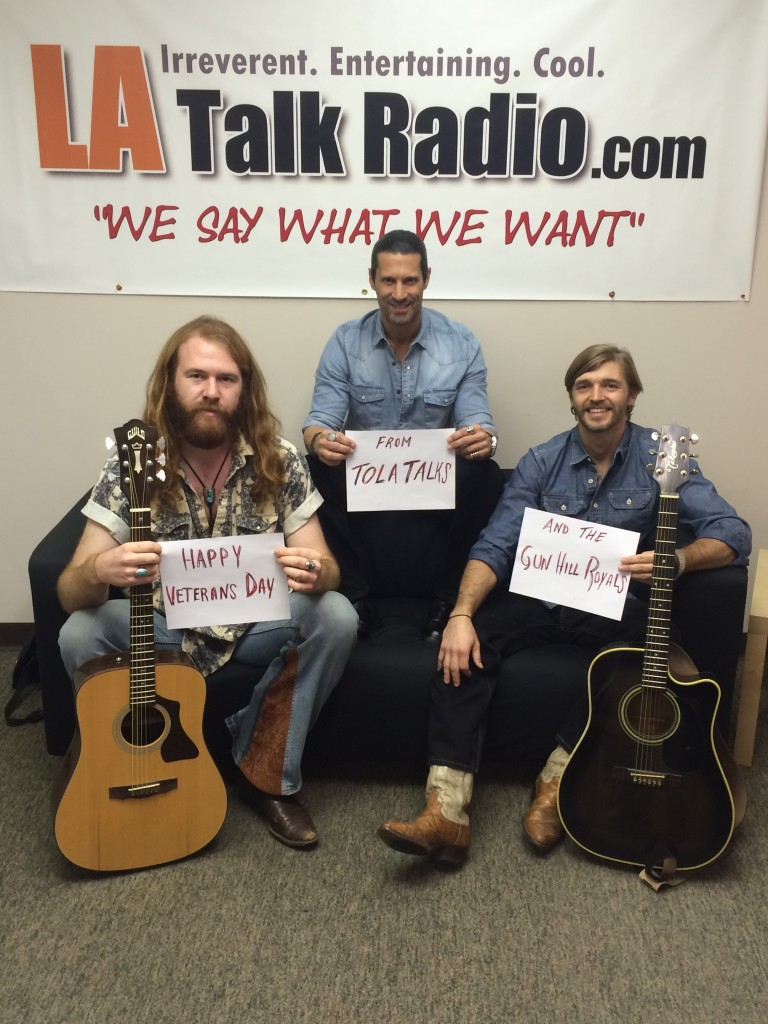 Tola Talks' Rich Tola with Gun Hill Royals bandmates Austin MacNutt & Kyle Wyman