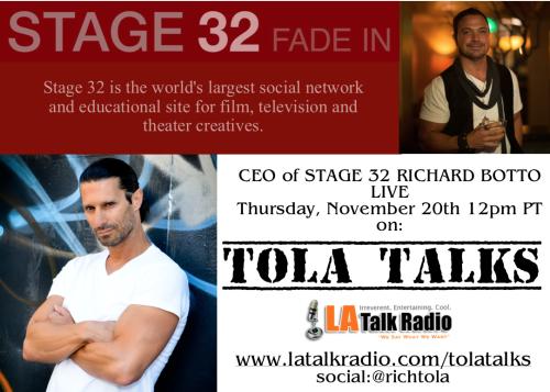 Stage 32 Richard Botto Tola Talks Rich Tola